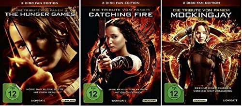Die Tribute von Panem Teil 1+2+3 (The Hunger Games+Catching Fire+Mockingjay 1) * Fan Editionen * DVD Set