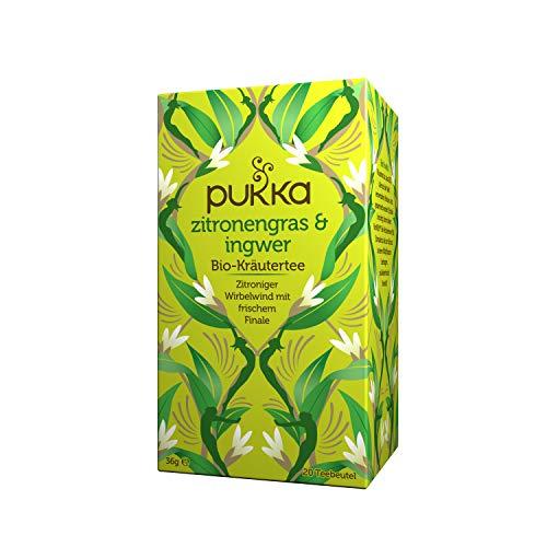 Pukka Bio-Tee Zitronengras & Ingwer 80 Teebeutel, 4er Pack (4 x 20 beutel)