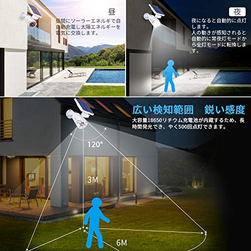 A-ZONE『センサーライト屋外ソーラーライト』