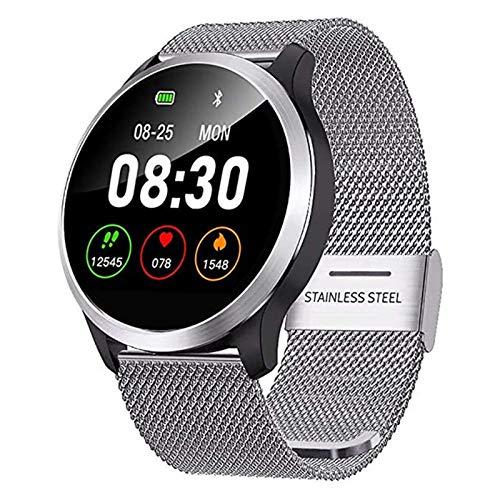 ZBY Smart Watch Fitness Tracker Smart Watch ECG Ritmo Cardíaco Monitoreo De La Presión Arterial Pulsera Inteligente para iOS Android Male Femenino,A