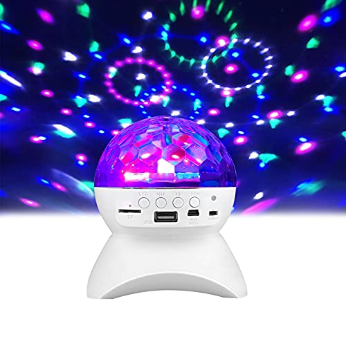Disco Lights Bluetooth Speaker, 9-Color Sound Activated Party Lights with 4 Playback Modes, 3W Disco Ball Light Rotating for Home/KTV/Wedding/Dance/Show/Club