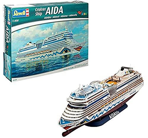 Revell Modellbausatz Schiff 1:400 - Cruiser Ship AIDAblu, AIDAsol, AIDAmar, AIDAstella im Maßstab 1:400, Level 5, originalgetreue Nachbildung mit vielen Details, Kreuzfahrtschiff, 05230