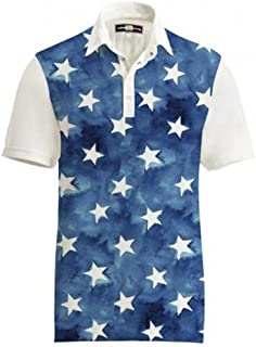 Loudmouth Golf Outdoor Clothing Mens Shirts Fancy All Stars Shirt Size: L