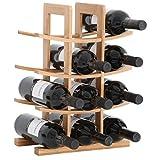 Gräfenstayn 30551 casier à vin PORTO - empilable en bois de bambou pour 12...
