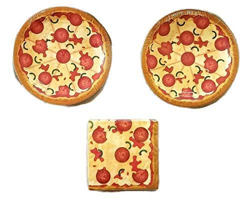 Pizza Party Party Bundle 9' Plates (16) Napkins (16)
