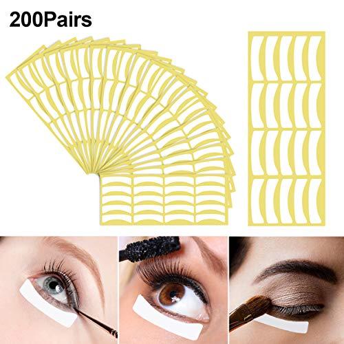 400 Stück Augenpads für Wimpernverlängerung, Papier Under Eye Patches for Eyelash Extensions, Einweg Eyeshadow Shield Eyeliner Schablone für Frauen Make-up, Fusselfrei