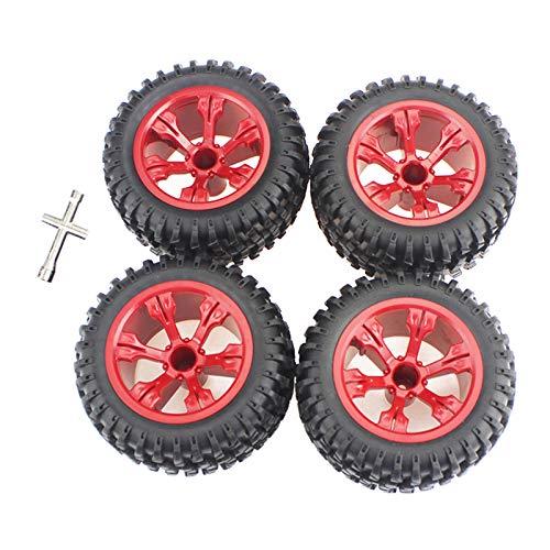 T TOOYFUL 4 Stück RC Autoreifen,Gummireifen Rad Reifen für RC Crawler Auto Zubehörteile