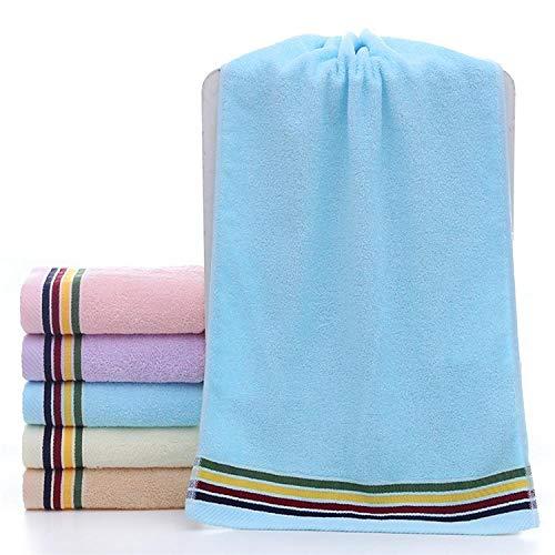 Fuduoduo Suaves transpirabilidad Toallas,Toalla Suave de absorción de Agua de algodón Puro 33 * 73-Azul 3PCS,AlgodóN Puro Toalla De BañO Suave
