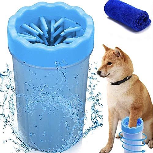 MEIRUIER Limpiador de Patas de Perro,Lavadora de pies de Perro,Taza de Limpieza para Mascotas,Limpiador de Patas para Perro Gato,Taza de pie para Mascotas (azul)