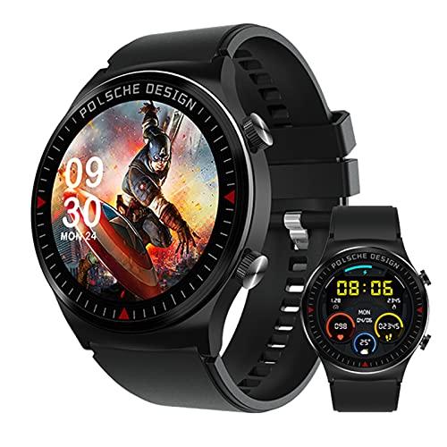 BNMY Relojes Inteligentes Hombre Smartwatch Llamada Bluetooth con Pulsómetro,Podómetro,Monitor De Sueño, Pulsera De Actividad,Smartwatch Inteligentes Hombre para iOS Y Android,Negro