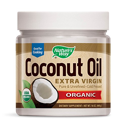 Nature's Way Organic Coconut Oil - 16 oz. Gluten Free, Non GMO Extra Virgin Coconut Oil for...