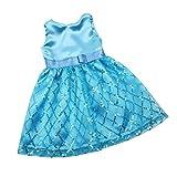 MagiDeal Hübschs Puppenkleid Pailletten ärmelloses Partykleid Für 18 Zoll Puppe Party Dress Up -...