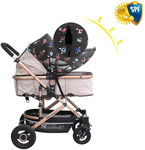 MHOYI Toldo Protector Solar Universal para Cochecitos Capazos Carrito de Bebé Sillas de Paseo Sombrilla Parasol Protección UV (Estilo:2)