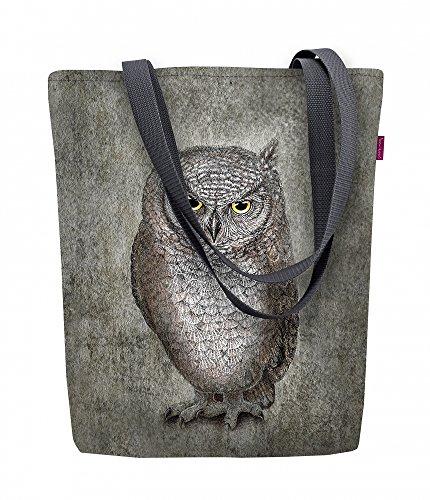 Arso Shopper Sunny Eule-E Stofftasche Damen Tasche mit Motiv Vogel Stoff Kodura Einkaufstasche wasserdicht
