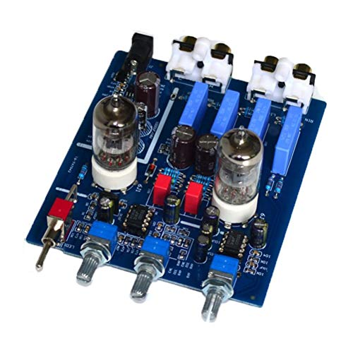 Digital Fever HIFI Bile Preamp 6J1 Tube with High And Low Sound Adjustment HIFI Audio Amplifier Preamplifier (Color : With tone)