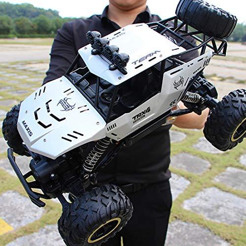 Likecom Camión teledirigido profesional 4 WD 37 cm 2,4 GHz RC con función completa, juguete para niños y adultos, color plateado