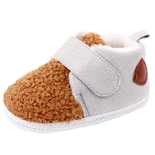 SOMESUN Kleinkindschuhe Baby Jungen Mädchen Warm Gefüttert weiche Sohle Schneeschuhe Krippe Winterschuhe Stiefel