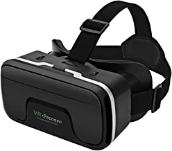 VR Headset, Pecosso 3D Virtual Reality Glasses Compatible with iPhone & Android Phone New Goggles for Movies Compatible 4....