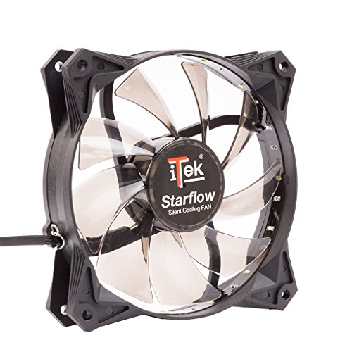 iTek Star Flow PC behuizing, ventilator, ventilator en radiator (PC-behuizing, ventilator, 12 cm, 1200 U/min, 25,5 dB, 43,46 cfm)
