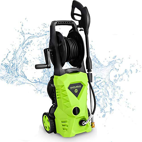 Best Prices! WHOLESUN 3000PSI Electric Pressure Washer 1.8GPM 1600W Power Washer with Hose Reel and ...