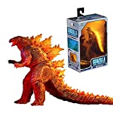 NewlyGood Burning Godzilla King of The Monsters (2019) Action Figures Monster Toys 12 Inches Head to Tail | Fire Monster Arts Godzilla Toys