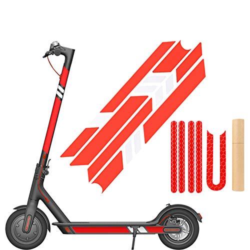 SGMY Pegatina reflectante impermeable para patinete Xiaomi Mijia, M365, E-Scooter y Ninebot Es1/Es2/Es4, accesorios para scooter eléctrico, Paquete 2