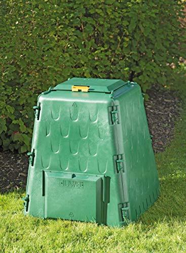 Juwel Thermokomposter AEROQUICK 290 (Nutzinhalt 290 l, für Garten- / Küchenabfälle, Komposter aus UV-stabilen Recyclingkunststoff, konische Form, mit 2 Entnahmeklappen, Deckel mit Windsicherung) 20872