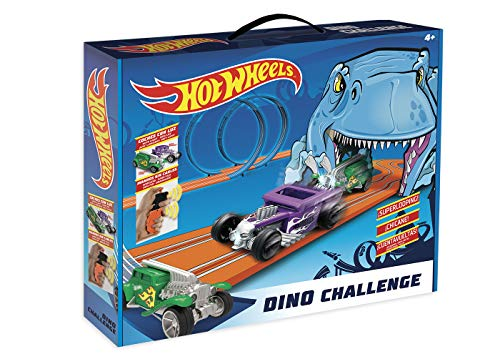 WRC- Set 1/64 Hot Wheels Dino Challenge Circuit, 91002, Multicolore