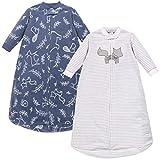 Yoga Sprout Unisex Baby Long-Sleeve Fleece Sleeping Bag, Sack, Blanket, Forest, 0-9 Months