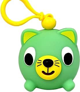Oshaberi Doubutsu Talking Animal Ball Borukuma Stress Ball - Key Chain Clip - Green Cat