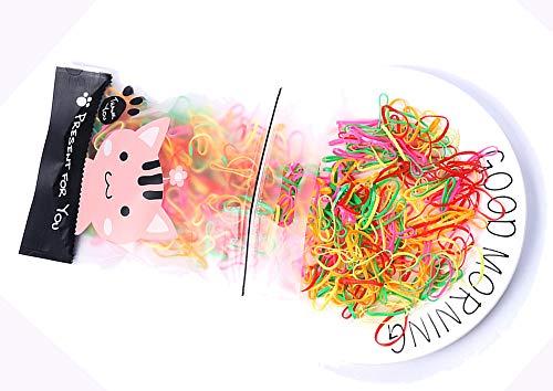 500 piezas Corbata de pelo desechable Bandas de goma elásticas minúsculas Mini titular de cola de caballo Multicolor para niñas Peinado de boda