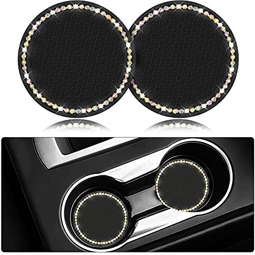 Leyoviz Bling Car Coasters, Car Cup Holder Insert Coaster, Car Interior Accessories 2.75 Inch 3D...