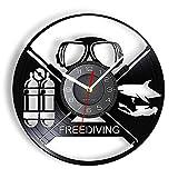 Nfjrrm Reloj de Pared cilíndrico de Vinilo de inspiración de Buceo...