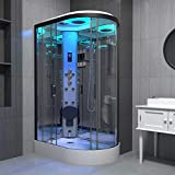 Maclean International Limited T/A I <span class='highlight'>Insignia</span> Black Steam <span class='highlight'>Shower</span> Cabin Enclosure Cubicle 1100x700 Offset LH Quadrant