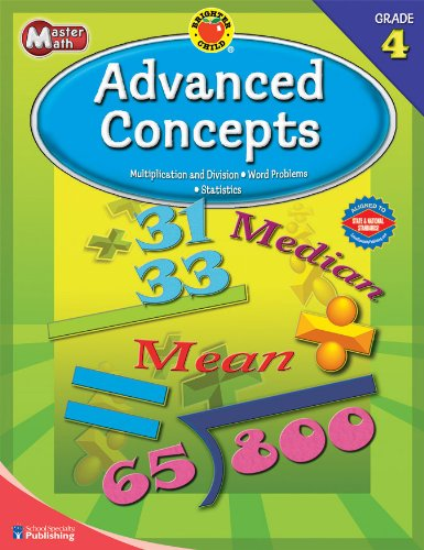 Brighter Child® Master Math: Advanced Concepts, Grade 4 (Brighter Child Workbooks)