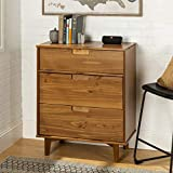 WE Furniture 3 Drawer Mid Century Modern Wood Dresser Bedroom Storage,...