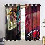 Cortinas personalizadas Chid entre nosotros térmicas aisladas cortinas de oscurecimiento para niñas Tratamiento de ventana para sala de estar W63 x L72