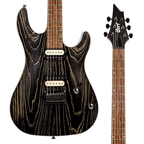 Cort KX300 ETCHED - Guitarra eléctrica serie KX, color negro y dorado