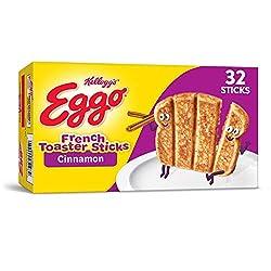 Kellogg's Eggo Cinnamon French Toaster Sticks - Frozen Breakfast Food Made Easy, 12.7 oz Box (32 Fro