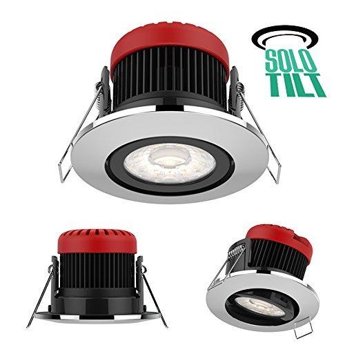 BRITE SOURCE Downlight LED Solo TILT 10W tout-en-un résistant au feu 740 lumens - 3 options de couleur (3000K, 4000K et 6000K) - 3 options de fascia - Garantie de 5 ans - inclinable 25°