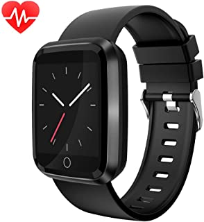 moreFit Fitness Tracker Smart Watch, IP68 Waterproof Fitness Watch Activity Tracker with Heart Rate Monitor, Wearable Smart Bracelet Sleep Monitor Step Counter Watch for Men Women