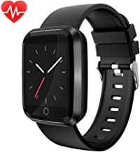 moreFit Fitness Tracker Smart Watch, IP68 Waterproof Fitness Watch Activity Tracker with Heart Rate Monitor, Wearable Smart Bracelet Sleep Monitor Step Counter Watch for Men Women
