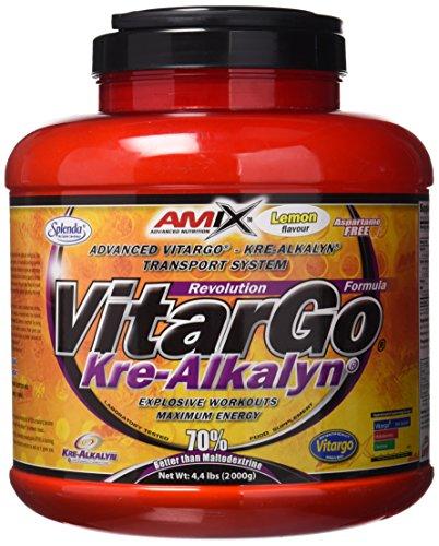 Amix, Vitargo Load + Kre-Alkalyn , Suplemento Alimenticio, Recuperador muscular, Suplemento de Carbohidratos para masa muscular, Creatina Monohidrato Amix, Sabor Limón, 2 KG