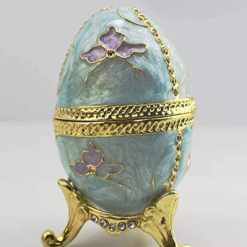 Sala de estar, dormitorio, estudio, hogar, oficina Regalos de joyería pintado huevos Diamante Anillos Pendientes Pequeña caja de almacenaje de la joyería ornamentos creativos de 5 * 9.5CM hermosas y e