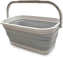 SAMMART 11.6L (3.06 Gallon) Collapsible Rectangular Handy Basket/Bucket (Grey, 1)