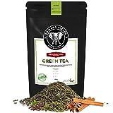 Edward Fields Tea ® - Té Chai verde orgánico a granel. Te bio recolectado a mano con ingredientes naturales, 100 gramos, China.