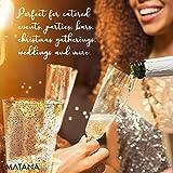 matana 50 Champagnerflöten, Einwegbecher, Sektkelche Plastik 150 ml - Glitter Gold Sektgläser Plastik - Ideal für Hochzeiten, Partys, Cocktails & Premium-Anlässe - 5