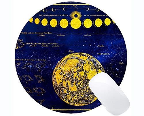Gaming Runde Mauspad Benutzerdefinierte, Mond Saturn Venus Jupiter Themen der Runde Mauspads