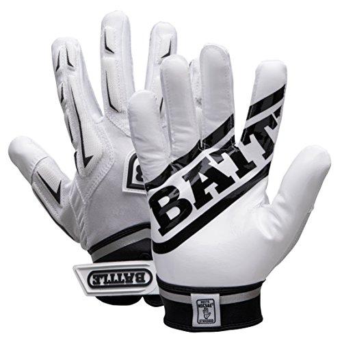 Battle Youth Hybrid Gloves, White, Large