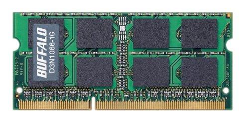 BUFFALO PC3-8500(DDR3-1066)対応 204Pin用 DDR3 SDRAM S.O.DIMM 1GB D3N1066-1G